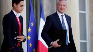 法國經濟與財政部長勒梅爾資料圖片