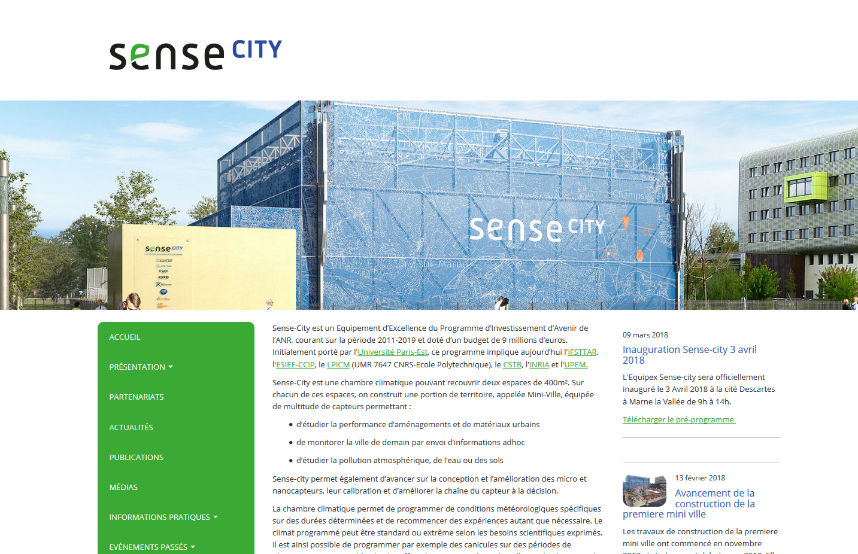 Le site du projet Sense-City.