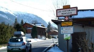 Thị trấn Les Contamines-Montjoie, Pháp nơi lưu trú của 5 người Anh bị phát hiện nhiễm virus corona ngày 8/2/2020.