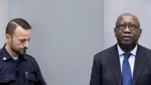 L'ancien président ivoirien Laurent Gbagbo, lors du premier jour de son procès, le 28 janvier 2016.