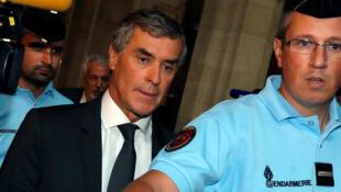 Jérôme Cahuzac arrive au palais de justice le 5 septembre 2016.
