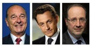 Три последних президента Франции: Жак Ширак, Николя Саркози, Франсуа Олланд