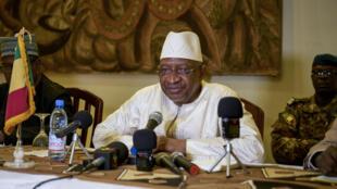 Le Premier ministre malien Soumeylou Boubeye Maïga le 13 octobre 2018 à Mopti, dans le nord du pays.
