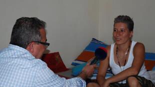 Lady Tabares entrevistada por Juan Carlos Roque.