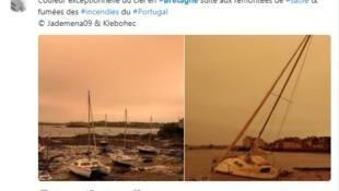 Жители Бретани делятся фото охристого неба