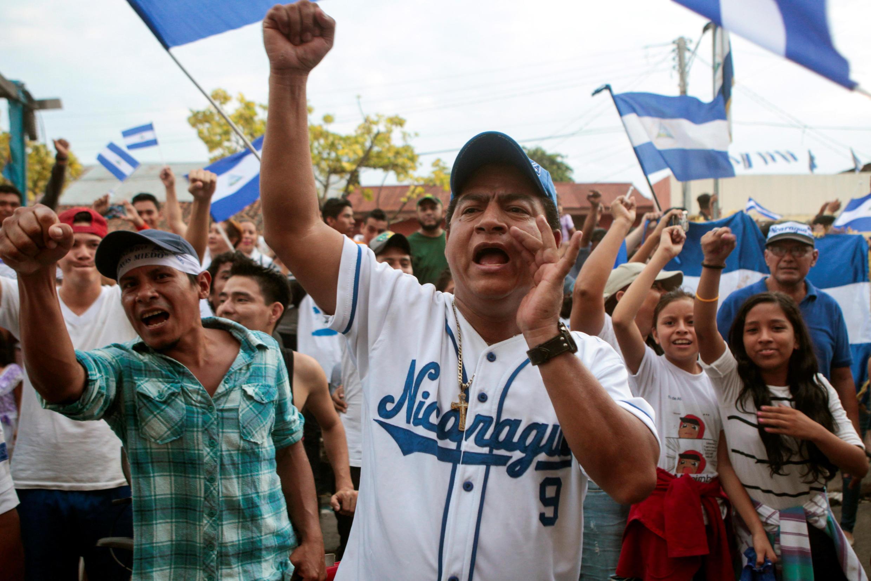 Manifestation contre le gouvernement et le président Ortega dans la ville de Monimbo, lundi 7 mai 2018