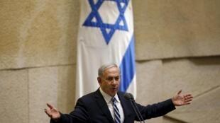 Israel's Prime Minister Benjamin Netanyahu in the Knesset