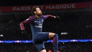 Le Brésilien Neymar, attaquant vedette du club de football français Paris Saint-Germain.