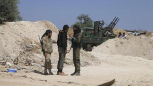Members of the Jaish al-Fatah rebel group in Syria