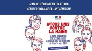 Poster advertising the Week Against Racism and anti-Semitism in France.