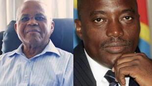 Etienne Tshisekedi (g), président-fondateur de l'Union pour la démocratie et le progrès social et Joseph Kabila, président de la République démocratique du Congo