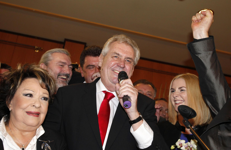 (Photo datée du 26 janvier 2013, lors de l'élection de Milos Zeman).