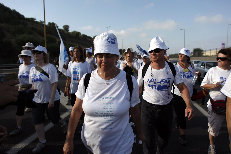 Passeata em Tel Aviv para libertação do soldado Shalit .