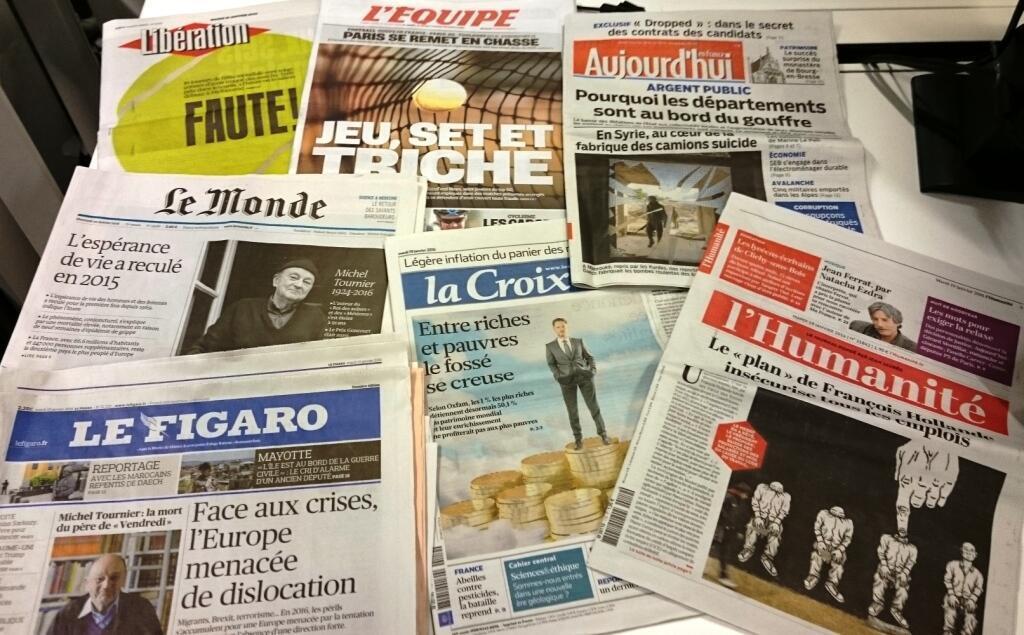 Diários franceses 19/01/2016