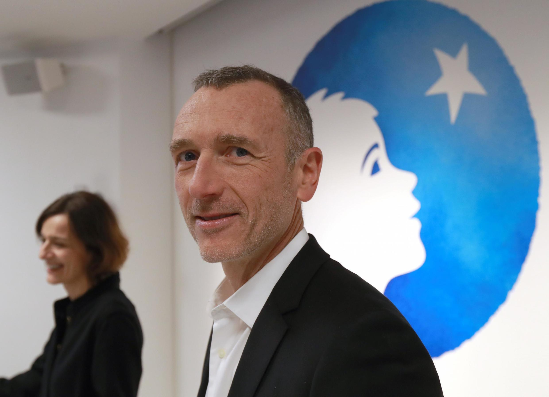 L'ex-PDG de Danone, Emmanuel Faber, lors de la présentation des résultats financiers de l'entreprise, le 19 février 2019, à Paris