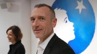 达能首席执行官范易谋(Emmanuel Faber)在2019年2月19日在巴黎发布公司财务业绩时。
