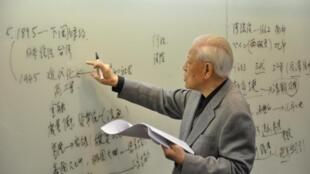 资料图片:台湾前总统李登辉。照片日期不详。