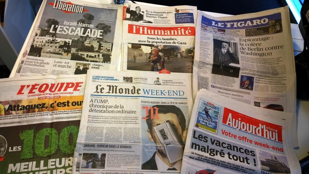 Diários franceses 11/07/2014