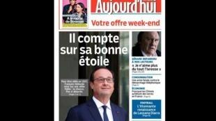 Capa do jornal Aujourd'hui en France desta sexta-feira (6), sobre os quatro anos de mandato do presidente François Hollande.