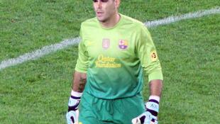 La saison du gardien du FC Barcelone Victor Valdès est terminée.