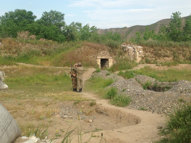 На передовой в Нагорном Карабахе