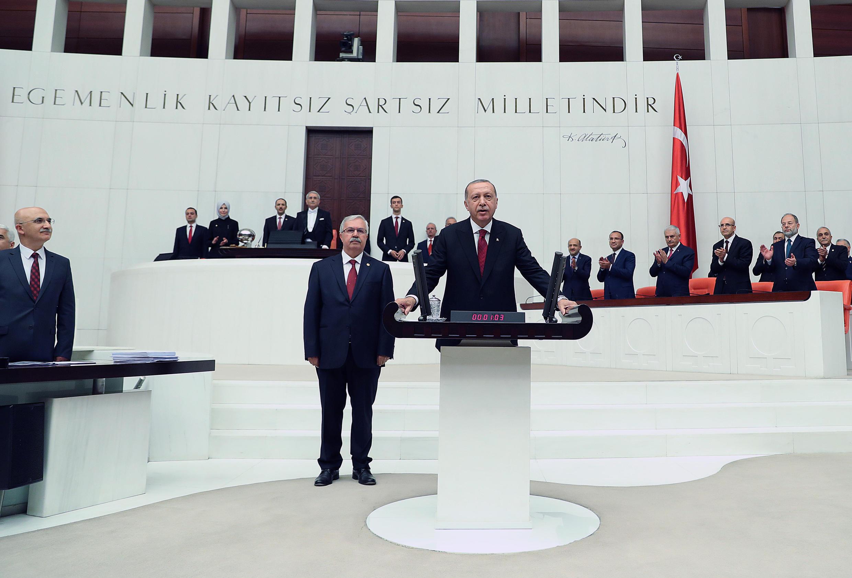 مراسم ادای سوگند اردوغان در پارلمان ترکیه
