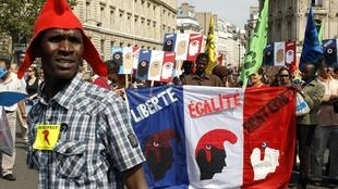 Saturday's demonstrations against Roma deportations