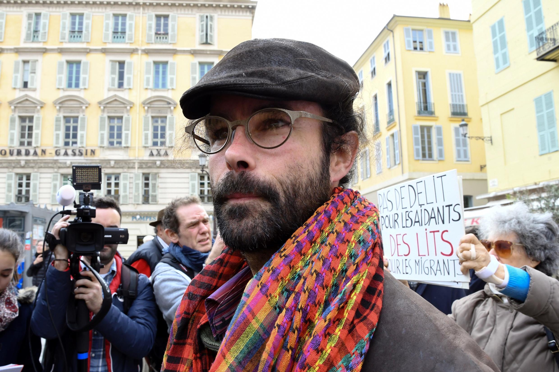 Cédric Herrou, le 23 novembre 2016, à Nice.