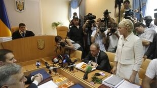 Tymoshenko in court on charges of abuse of power
