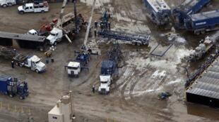 A fracking operation outside Williston, North Dakota.