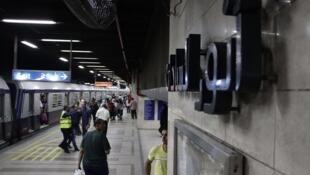 Le métro du Caire, 17 juin 2015.