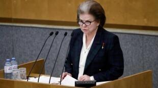 Поправку о предоставлению Владимиру Путину возможности снова баллотироваться в президенты предложила Валентина Терешкова