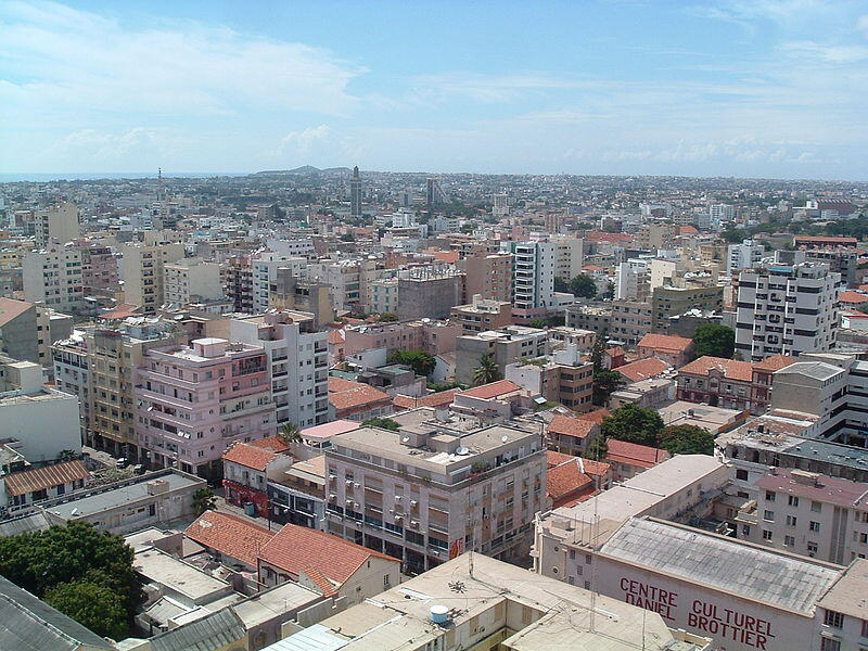 Une vue panoramique de Dakar, la capitale du Sénégal.