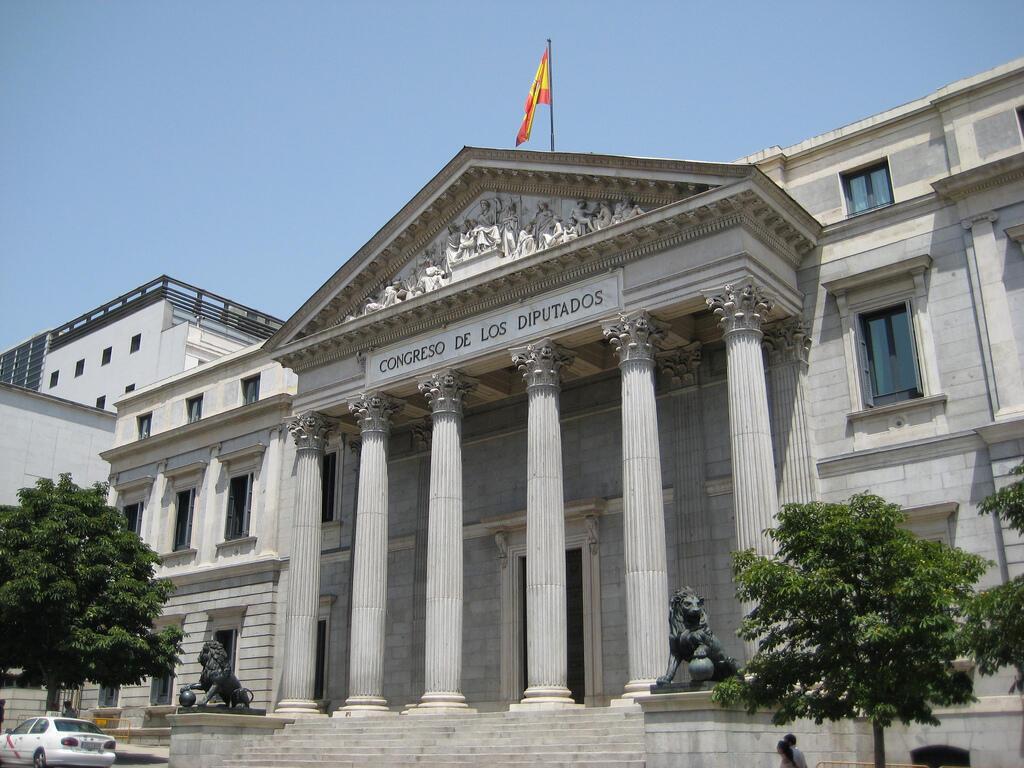 Une vue du parlement espagnol.