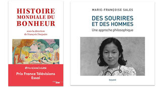 """""""Histoire mondiale du bonheur"""" et """"Des sourires et des hommes""""."""