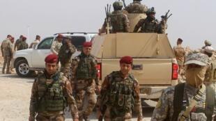 """حضور نیروهای امنیتی عراق در نواحی نزدیک به شهر """"رمادی""""  به منظور خنثی کردن حملات گروه داعش"""