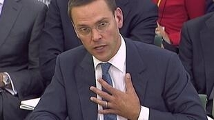 James Murdoch giving evidence to the parliamentary committee on 19 July