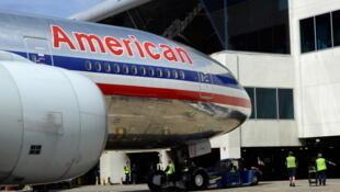 Um avião da American Airlines.