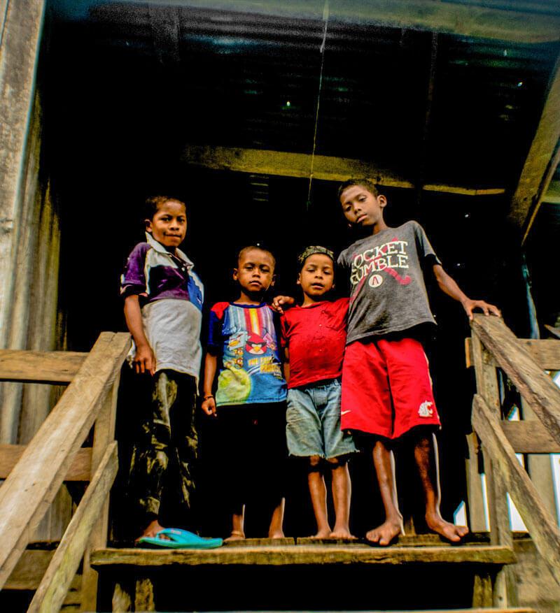 Niños de la moskitia hondureña.