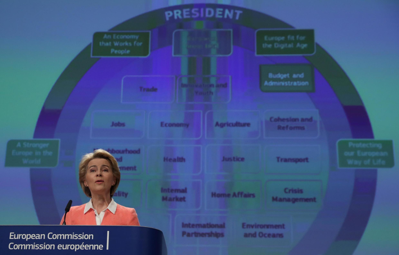 Incoming European Commission President Ursula von der Leyen in Brussels.