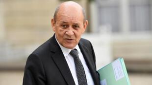 Jean-Yves Le Drian, ministro dos negócios estrangeiros da França.