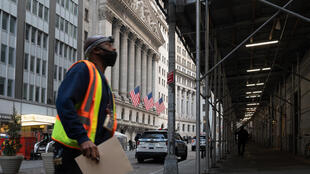The New York Stock Exchange building is seen on March 23