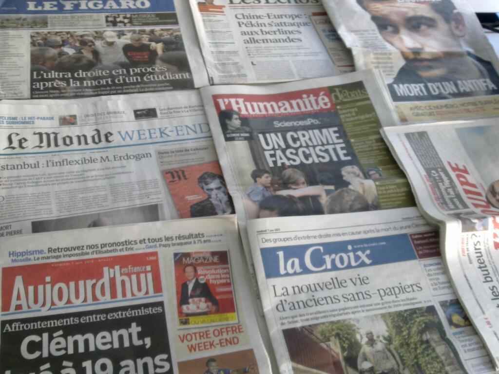 Diários franceses  07/06/2013