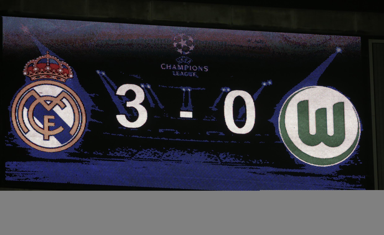 Real Madrid ta doke VfL Wolfsburg 3 da 0 a Bernabeu
