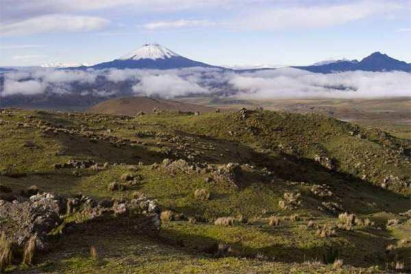 La Cordillera de los Andes, en América del Sur.