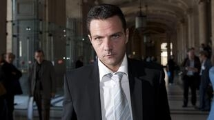 Jérôme Kerviel at the Paris Palace of Justice during a break in the hearings