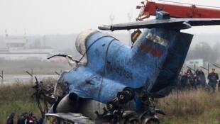 Останки потерпевшего крушения самолета ЯК-42