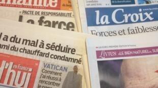 Primeiras páginas dos diários franceses de 6/03/2014