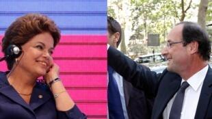 Dilma Rousseff parabenizou o presidente eleito da França, François Hollande, e elogiou suas propostas para lutar contra a crise na Europa.