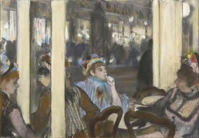 德加画下咖啡馆里的女人 Femmes à la terrasse d'un café